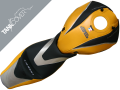 HONDA CB  600 HORNET 'Série spéciale', 2007 - 2010 black, saffron yellow, light grey & light grey metallic (C)