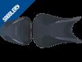 SUZUKI GSX-S 1000 / 1000 F 'Série spéciale', 2015 - 2020 mattschwarz & 'racing' schwarz, Deko schwarz kariert & anthrazit, zweifarbige Stickerei (C)