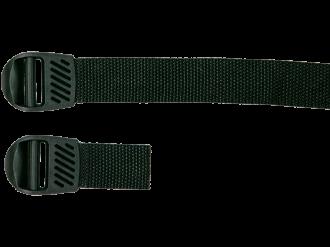 Klemm-Leiterschnalle mit Nylongurt 25mm